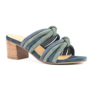 NWOT Crevo Rubie Slip On Heeled Sandal
